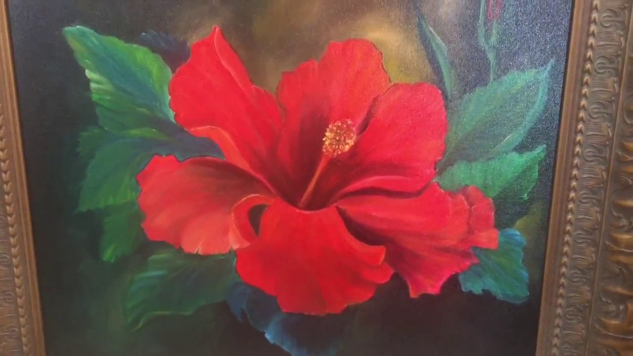 Art Class Gymie Red Hibiscus Oil Youtube