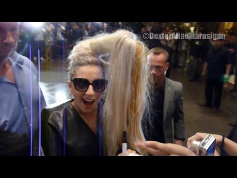 Lady Gaga arrives in Philippines for her concert The Born This Way Ball (May 19, 2012) HD