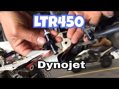 Suzuki LTR 450 Power Commander V and fuel injector installment