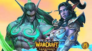 Tyrande's Death & Hunt for Illidan - All Cutscenes [Warcraft 3: Frozen Throne]