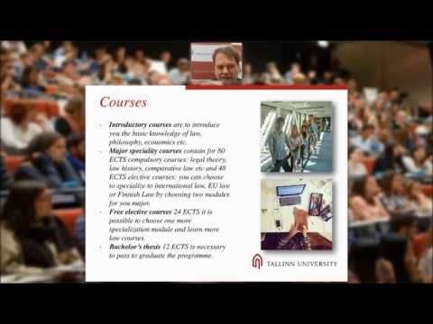 Webinar about Law BA and International Business Law MA (2015)