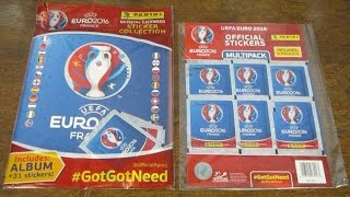 Panini Euro 2016 Stickers - MULTIPACK & STARTER PACK OPENING!