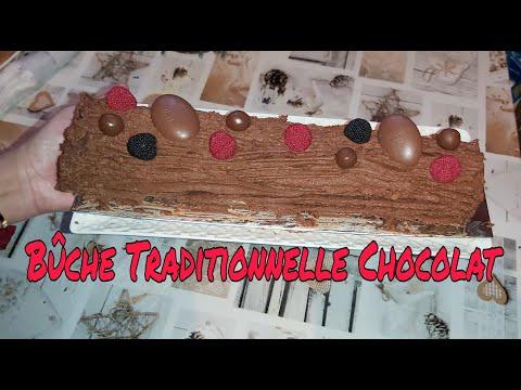 recette-facile-de-la-bûche-de-noël-traditionnelle-au-chocolat