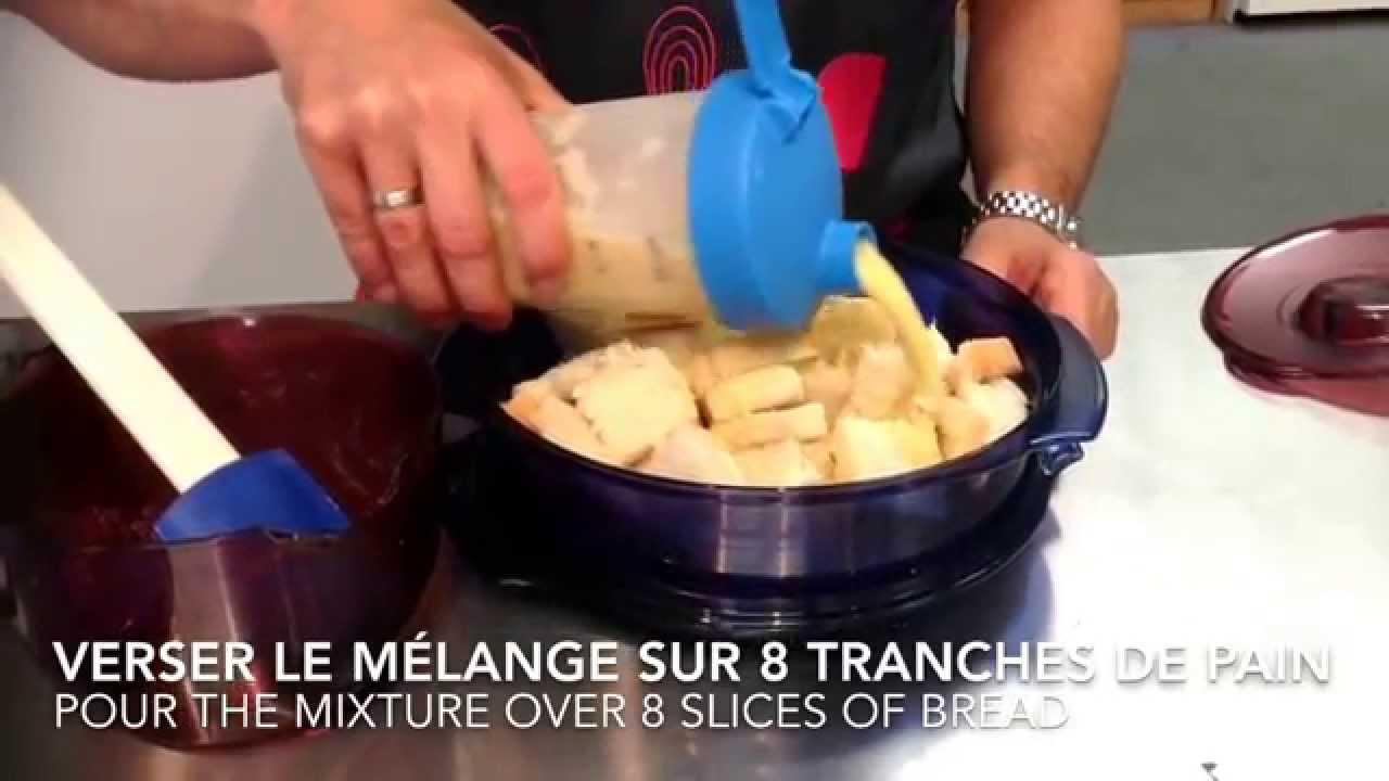 recette dessert tupperware facile de pouding au et sauce au caramel bread pudding and