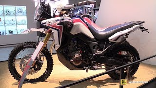 2018 Honda Africa Twin Rally Walkaround 2017 Eicma Motorcycle Exhibition Youtube