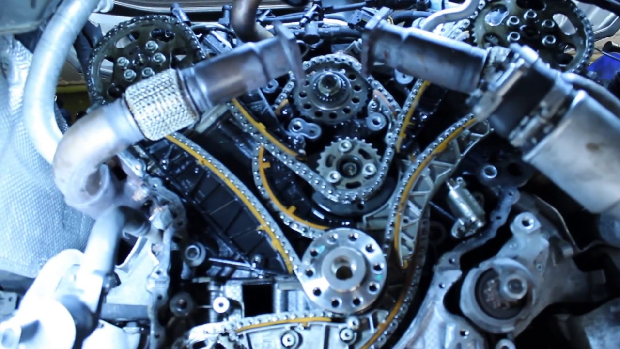 Audi VW Porsche A6 Q7 Touareg Cayenne  3.0tdi timing chain replacement | ENG sub