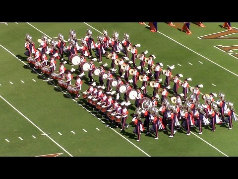 UVA Cavalier Marching Band 2015 Pre Game Show (entrance) vs William & Mary 9-19-2015