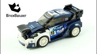 Чемпіони швидкості Лего 75885 Форд Фієста М-Спорт ВКР - швидкість Лего будувати
