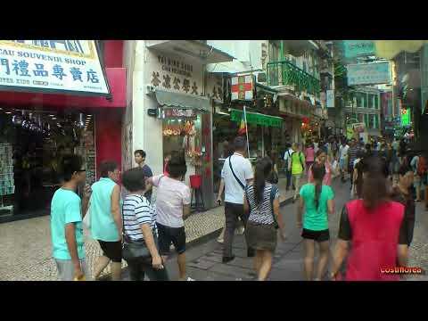 Macau,Senado Square walking tour - Trip to China part 68 - Full HD travel video