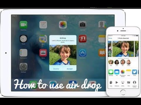 HOW TO USE AIRDROP FOR SHARING PHOTOS AND VIDEOS