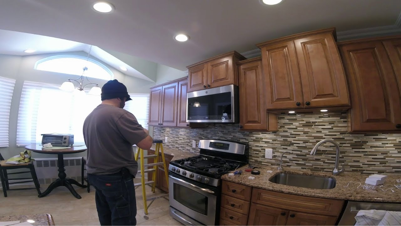 168 & Modern Kitchen Remodel | Time lapse | Vaulted Ceiling Mosaic Tile ...