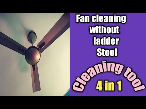 Without Stool, Bench,Ladder-How to   Clean Dusty ceiling Fan Easy 5 Mints in Tamil