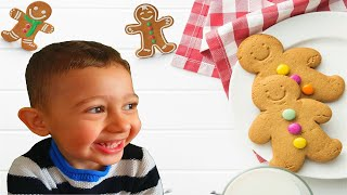 Tomy bakes Gingerbread Man | The Gingerbread Man | Baking Gingerbread Cookies | Kid in the Kitchen