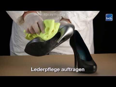 Schuhe umfärben mit Lederspray YouTube