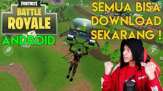 Everyone can Download the MOST POPULAR Games IN the world! Fortnite Android Indonesia