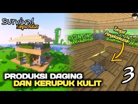 PRODUKSI DAGING BERKUALITAS DAN KERUPUK KULIT SAPI XD - MINECRAFT SURVIVAL INDONESIA #3