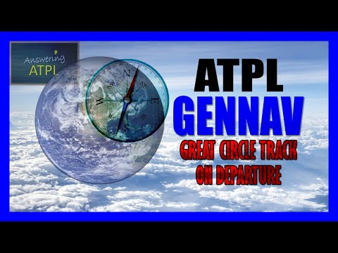 Great Circle Track On Departure | General Navigation | ATPL Question Bank | AE66068 | Answering ATPL