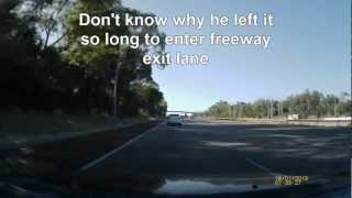 Take Freeway exit and then change mind