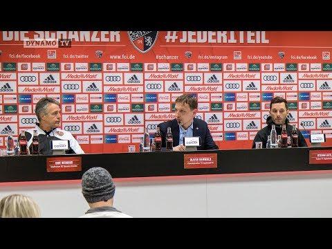 27. Spieltag   FCI - SGD   Pressekonferenz nach dem Spiel