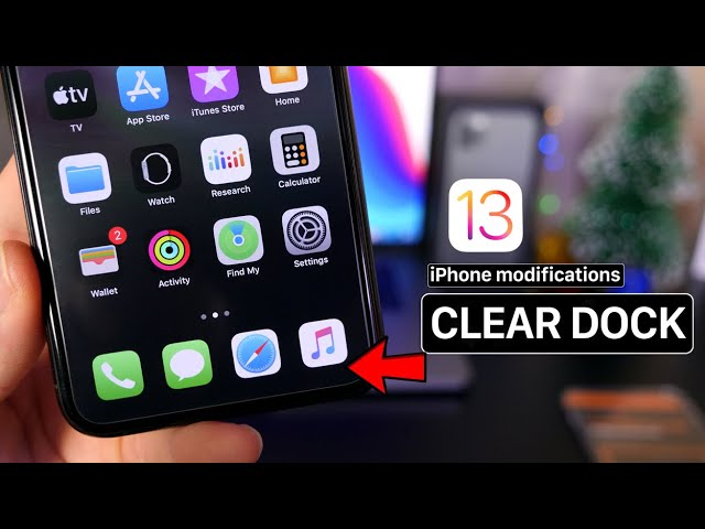 New Iphone Mods Clear Dock More Ios13 No Jailbreak Youtube