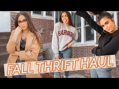 HUGE Fall Thrift Haul // Fall Trends, Outerwear, + Home Decor ♡