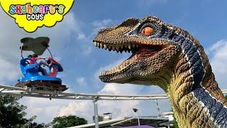 Pet Dinosaur in a Theme Park!