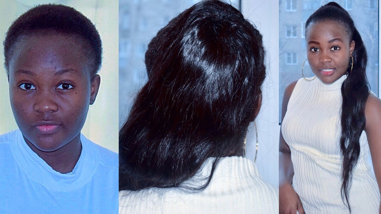 Ponytail without hair band - Invisible Ponytail Without Glue Or Bobby Pins Tutorial Short Natural Hair