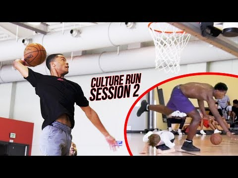 THE CULTURE RUN: Cassius Stanley STUPID Dunks Training With Pros! Kid Gets DROPPED! SESSION 2