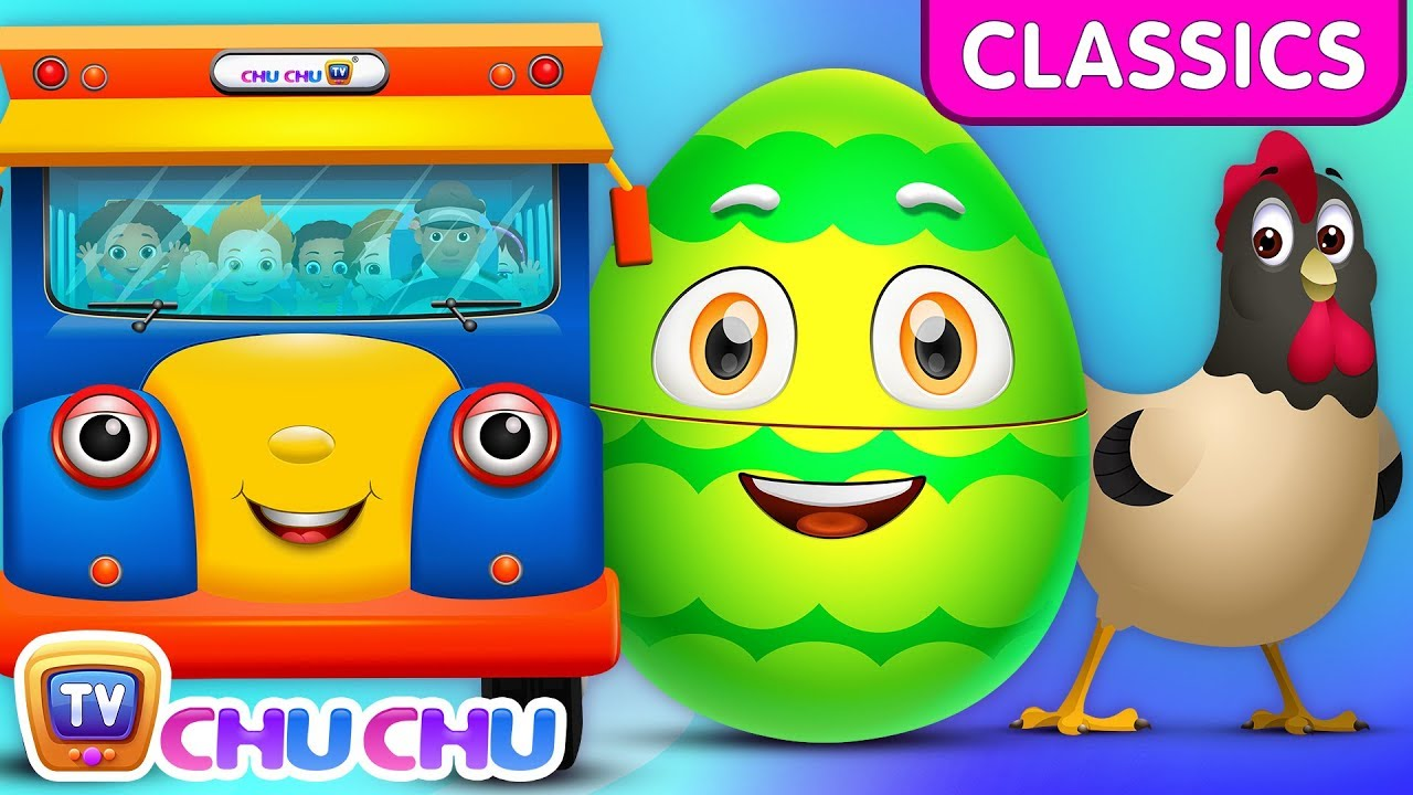ChuChu TV Classics - Wheels On The Bus - Wonders of the World | Surprise Eggs Nursery Rhymes