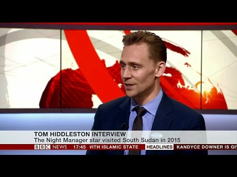 Tom Hiddleston Interview on BBC News - May 4, 2016 - YouTube