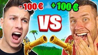 100€ REVOLVER 1v1 gegen STANDARTSKILL in FORTNITE!