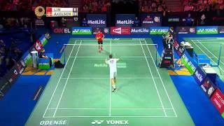Yonex Denmark Open 2015 | Badminton QF M3–MS | Lin Dan vs Viktor Axelsen