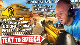 THE BEST TEXT TO SPEECH! BLACK OPS COLD WAR GOLD MP5 UNLOCKED!