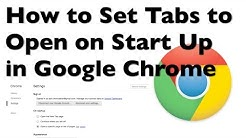 How to Set Default Tabs to Open on Start Up in Google Chrome
