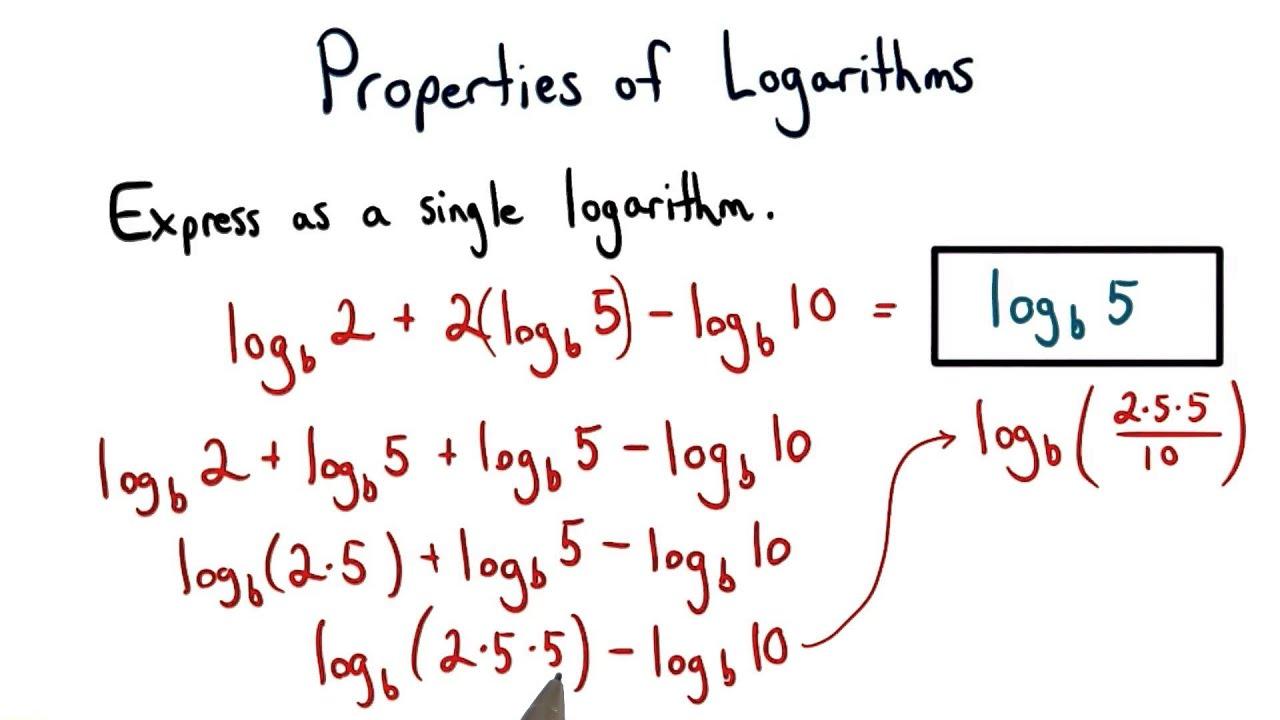 adding and subtracting logs with different bases in a relationship