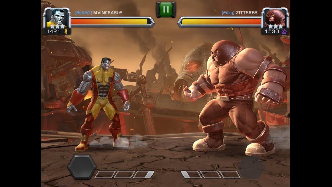 colossus vs juggernaut marvel contest of champions