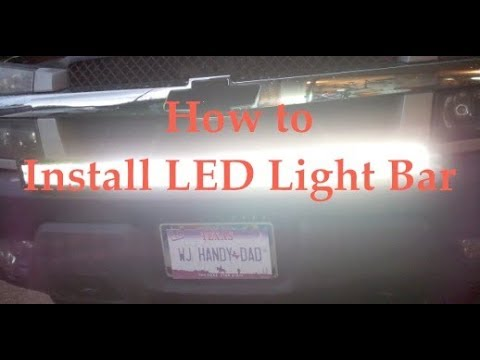 How to install LED light bar Wiring A Led Light Bar on