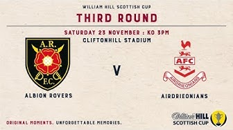 Albion Rovers 1-4 Airdrieonians | William Hill Scottish Cup 2019-20 – Third Round