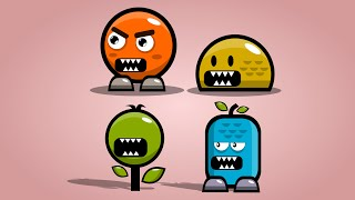 4 Simple characters made in InkScape