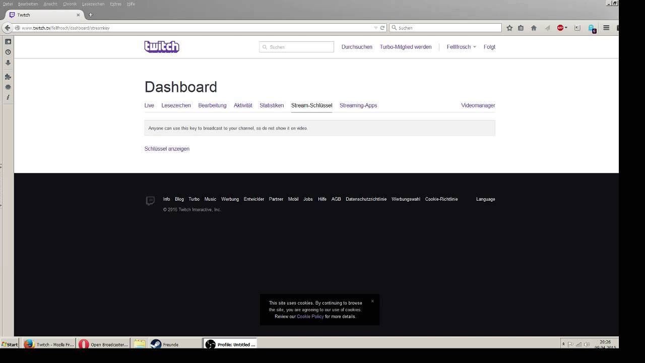 Streamschlüssel Twitch
