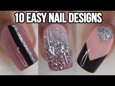 10 EASY NAIL IDEAS! NAIL ART COMPILATION thumbnail