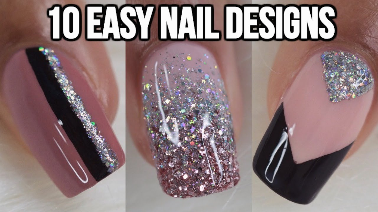 10 Easy Nail Ideas Nail Art Compilation Youtube