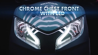 2017 first look honda new activa 125   chrome chest front with led   het engine with bs iv   aho