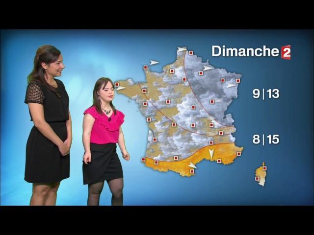 Esta joven con síndrome de Down ha conquistado a Francia presentando el tiempo