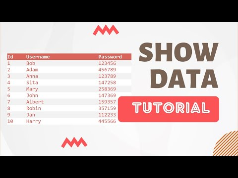 How to Display Data from MySQL Database into HTML Table using PHP - 2017