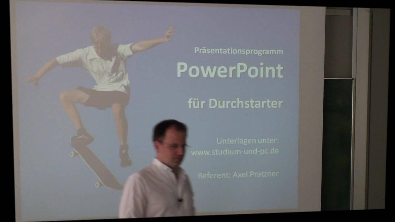 PowerPoint Präsentation erstellen - Aufbau PowerPoint und erste ...