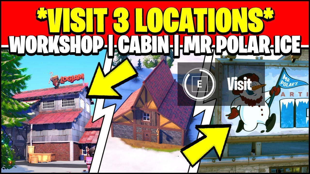 VISIT THE WORKSHOP LOCATIONS, CRACKSHOT'S CABIN AND MR ...