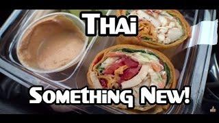 Starbucks Thai-style Peanut Chicken Wrap