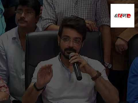 Prosenjit Chatterjee addressing media on behalf of Artists' Forum