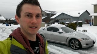 Mazda RX-8 Gets Stuck in the Snow (Day #41)